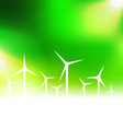 with wind turbine vector image