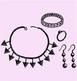 Women jewelry accessories vector image