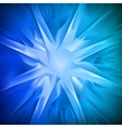 Blue background in the form of snowflakes vector image vector image