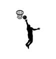 Basketball Player Lay-up Ball Shield vector image vector image