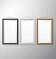 Picture Frames Black White Wooden vector image vector image