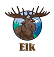 Cartoon moose or elk vector image vector image