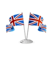 UK table flag isolated vector image
