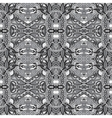grey authentic seamless floral geometric pattern vector image