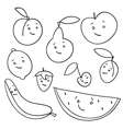 fruit faces vector image vector image