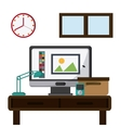 Office icons design vector image