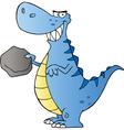 Happy Dinosaur Cartoon Character vector image