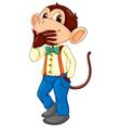 Monkey man vector image vector image