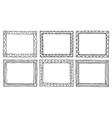 Doodle frameworks vector image
