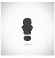 exclamation mark man head symbol vector image