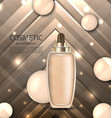 glossy cosmetic bottle with foundation vector image