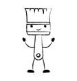 paint brush icon monochrome cartoon blurred vector image