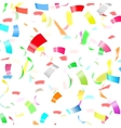 Party Confetti on White Background vector image