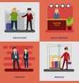 people in hotel square concept vector image