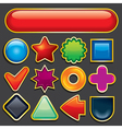 set of glossy design elements empty icons vector image