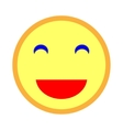 Smiling emoticon with smiling eyes 103 vector image