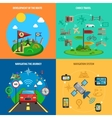 Travel And Navigation Decorative Icon Set vector image
