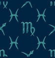 zodiac signs seamless pattern vector image vector image