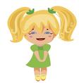 kawaii blonde princess vector image vector image
