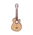 cute brown guitar cartoon vector image vector image