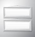 Picture Frames White Horizontal vector image