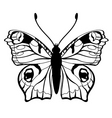 butterfly silhouet vector image vector image