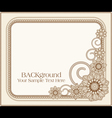 floral patterns frame vector image vector image