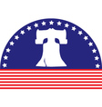 liberty bell flag vector image