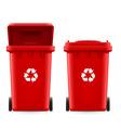 Buckets for trash vector image vector image
