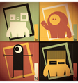 Set of four colorful monsters vector image