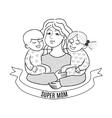 Super mom vector image