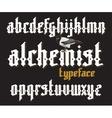 Alchemist gothic font vector image