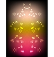 Abstract background with flowers Eps10 vector image