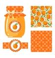 Apricot jam set vector image
