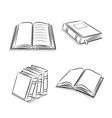 Book and notebook sketch set vector image