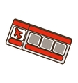 Cartoon red ticket airplane travel vector image