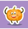 Emoticon Icon Happy Pumpkin vector image