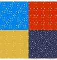 Geometrical seamless patterns set Lines circles vector image