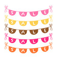 hand drawn bunting with sale text vector image