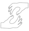 hands in holding position icon image vector image
