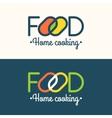 Modern minimalistic logo of food vector image