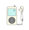 Music player with headphones vector image