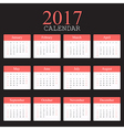 Simple calendar 2017 vector image