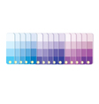 Swatches with tints in row vector image vector image