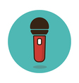 Microphone icon Musical sign vector image