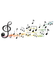 The G-Clef and the different musical notes vector image