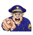 angry policeman vector image