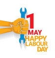 happy labour day label vector image