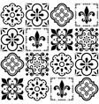 portuguese tiles pattern lisbon seamless vector image vector image