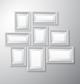 Picture Frames White Variety vector image vector image